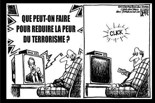 Pour réduire la peur du terrorisme éteignons notre télé !