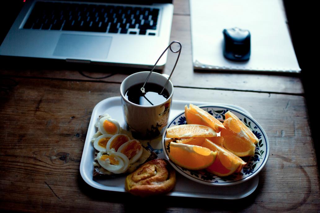Longtemps, j'ai petit-déjeuné de bonne heure.